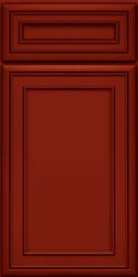 Square Recessed Panel - Veneer (NBM) Maple in Cardinal w/Onyx Glaze - Base