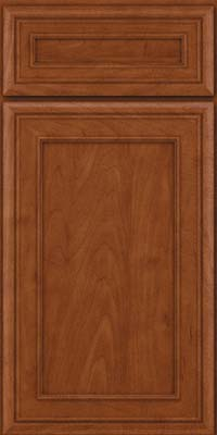 Square Recessed Panel - Veneer (NBM) Maple in Chestnut - Base