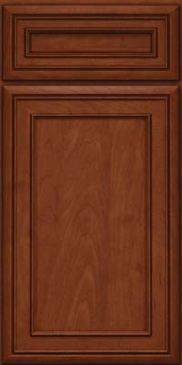 Square Recessed Panel - Veneer (NBM) Maple in Chestnut w/Onyx Glaze - Base