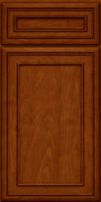 Square Recessed Panel - Veneer (NBM) Maple in Cinnamon w/Onyx Glaze - Base