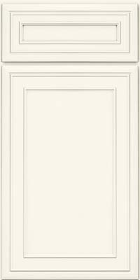 Square Recessed Panel - Veneer (NBM) Maple in Dove White - Base