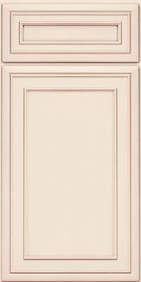 Square Recessed Panel - Veneer (NBM) Maple in Dove White w/Cocoa Glaze - Base