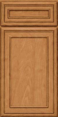 Square Recessed Panel - Veneer (NBM) Maple in Ginger w/Sable Glaze - Base