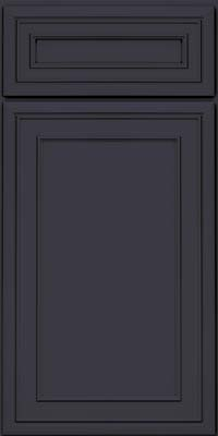 Square Recessed Panel - Veneer (NBM) Maple in Midnight - Base