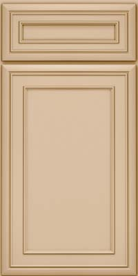 Square Recessed Panel - Veneer (NBM) Maple in Mushroom - Base