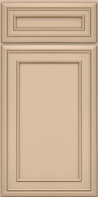 Square Recessed Panel - Veneer (NBM) Maple in Mushroom w/Cocoa Glaze - Base