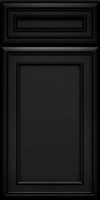 Square Recessed Panel - Veneer (NBM) Maple in Onyx - Base