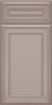 Square Recessed Panel - Veneer (NBM) Maple in Pebble Grey w/ Cocoa Glaze - Base