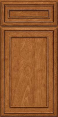 Square Recessed Panel - Veneer (NBM) Maple in Praline w/Onyx Glaze - Base