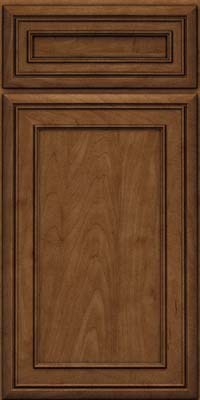 Square Recessed Panel - Veneer (NBM) Maple in Rye w/Onyx Glaze - Base
