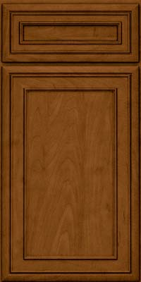 Square Recessed Panel - Veneer (NBM) Maple in Rye w/Sable Glaze - Base