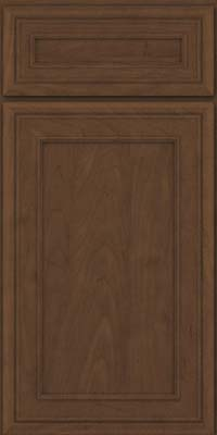 Square Recessed Panel - Veneer (NBM) Maple in Saddle Suede - Base