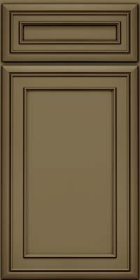 Square Recessed Panel - Veneer (NBM) Maple in Sage w/Cocoa Glaze - Base