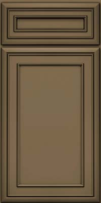 Square Recessed Panel - Veneer (NBM) Maple in Sage w/Onyx Glaze - Base