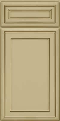 Square Recessed Panel - Veneer (NBM) Maple in Willow w/Cocoa Glaze - Base