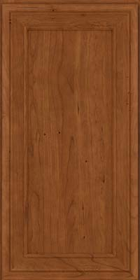 Square Recessed Panel - Veneer (NBC) Cherry in Antique Chocolate w/Mocha Glaze - Wall