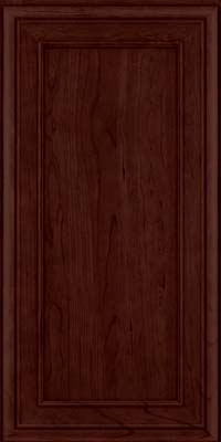 Square Recessed Panel - Veneer (NBC) Cherry in Cabernet - Wall