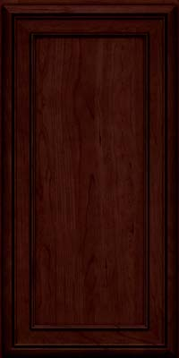 Square Recessed Panel - Veneer (NBC) Cherry in Cabernet w/Onyx Glaze - Wall
