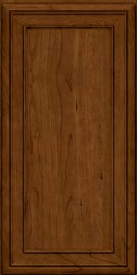 Square Recessed Panel - Veneer (NBC) Cherry in Ginger w/Sable Glaze - Wall