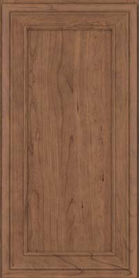 Square Recessed Panel - Veneer (NBC) Cherry in Husk Suede - Wall