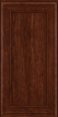Square Recessed Panel - Veneer (NBC) Cherry in Kaffe - Wall
