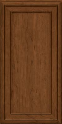 Square Recessed Panel - Veneer (NBC) Cherry in Rye w/Sable Glaze - Wall