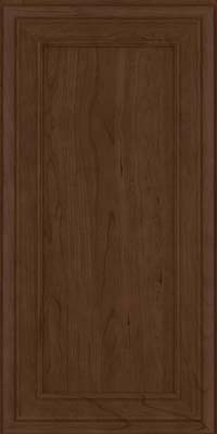 Square Recessed Panel - Veneer (NBC) Cherry in Saddle Suede - Wall