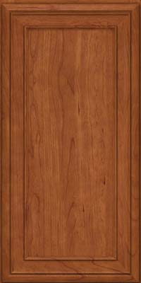 Square Recessed Panel - Veneer (NBC) Cherry in Sunset - Wall