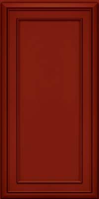 Square Recessed Panel - Veneer (NBM) Maple in Cardinal w/Onyx Glaze - Wall
