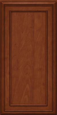 Square Recessed Panel - Veneer (NBM) Maple in Chestnut w/Onyx Glaze - Wall