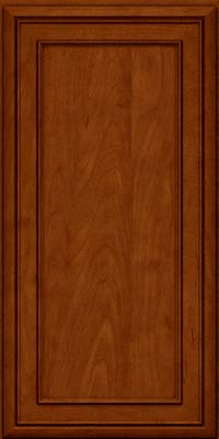 Square Recessed Panel - Veneer (NBM) Maple in Cinnamon w/Onyx Glaze - Wall