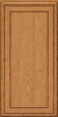 Square Recessed Panel - Veneer (NBM) Maple in Ginger w/Sable Glaze - Wall