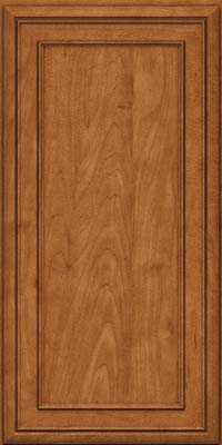 Square Recessed Panel - Veneer (NBM) Maple in Praline w/Onyx Glaze - Wall