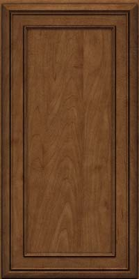 Square Recessed Panel - Veneer (NBM) Maple in Rye w/Onyx Glaze - Wall