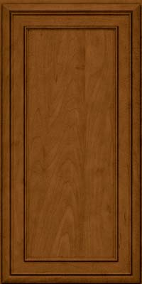 Square Recessed Panel - Veneer (NBM) Maple in Rye w/Sable Glaze - Wall