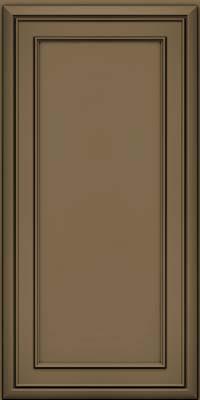 Square Recessed Panel - Veneer (NBM) Maple in Sage w/Onyx Glaze - Wall