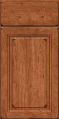 Arch Raised Panel - Solid (NFC) Cherry in Burnished Cinnamon - Base