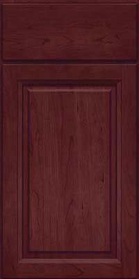 Arch Raised Panel - Solid (NFC) Cherry in Cabernet - Base