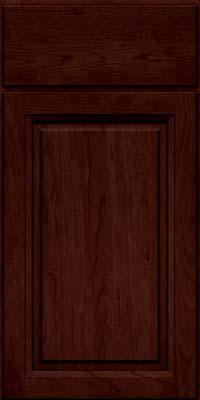 Arch Raised Panel - Solid (NFC) Cherry in Cabernet w/Onyx Glaze - Base