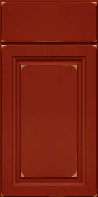 Arch Raised Panel - Solid (NFC) Cherry in Vintage Cardinal - Base