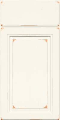 Arch Raised Panel - Solid (NFC) Cherry in Vintage Dove White - Base