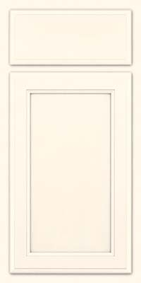 Square Recessed Panel - Veneer (NG) Maple in Canvas w/ Cinder Glaze - Base