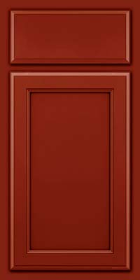 Square Recessed Panel - Veneer (NG) Maple in Cardinal w/Onyx Glaze - Base