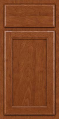 Square Recessed Panel - Veneer (NG) Maple in Chestnut - Base