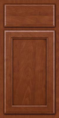 Square Recessed Panel - Veneer (NG) Maple in Chestnut w/Onyx Glaze - Base