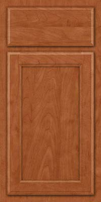 Square Recessed Panel - Veneer (NG) Maple in Cinnamon - Base