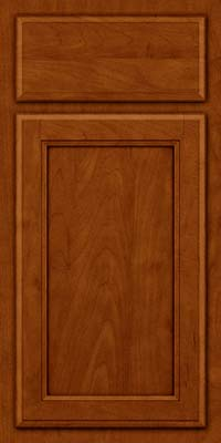 Square Recessed Panel - Veneer (NG) Maple in Cinnamon w/Onyx Glaze - Base