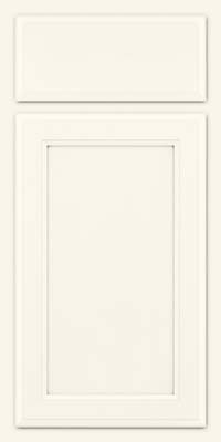 Square Recessed Panel - Veneer (NG) Maple in Dove White - Base