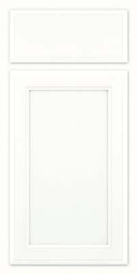 Square Recessed Panel - Veneer (NG) Maple in Dove White w/ Cinder Glaze - Base