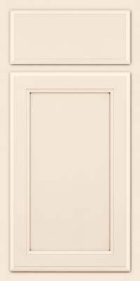 Square Recessed Panel - Veneer (NG) Maple in Dove White w/Cocoa Glaze - Base